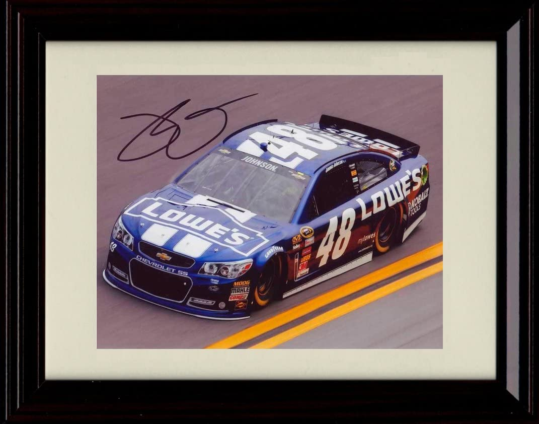 Framed Jimmie free Indianapolis Mall Johnson Autograph Replica Print #48 - Car