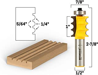 Yonico 16159 1/8-Inch Radius Triple Bead Furniture Trim & Molding Router Bit 1/2-Inch Shank
