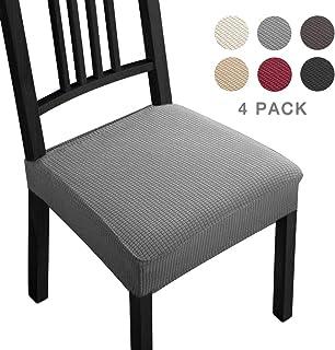 comprar comparacion Fundas para sillas Pack de 4 Fundas sillas Comedor Fundas elásticas,Fundas de Asiento para Silla,Diseño Jacquard Cubiertas...