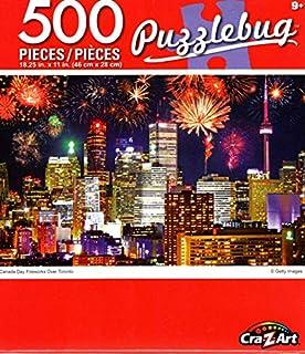 Cra-Z-Art Canada Day Fireworks Over Toronto - 500 Piece Jigsaw Puzzle