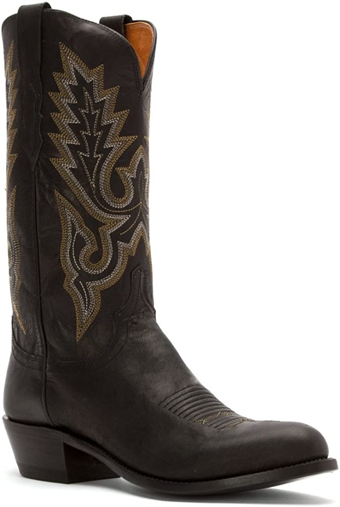 Lucchese Since 1883 Men's Finally popular brand M1007.R4 Boot Black Goat Madras Cowboy Max 72% OFF