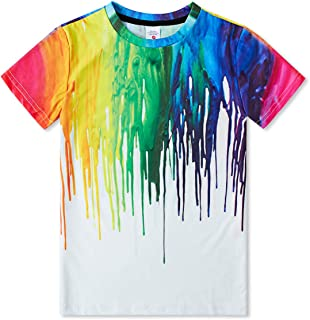 Kids Boys 3D Graphic Printed T-Shirt Crewneck Shirt Short Sleeve Unisex Tee 6T-16T