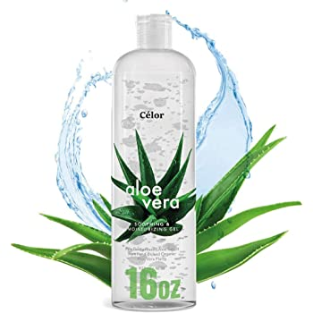 16oz - Aloe Vera Gel For Face - Pure Aloe from 100% Gel - Aloe Vera Gel Face Wash and Body After Sun Care - From Fresh Aloe Plants - Soothing & Moisturizing Gel - Size 16oz
