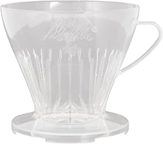 Melitta Kaffehållare med kaffemätsked, kaffefilter 1 x 4 premium, plast, transparent, 217595