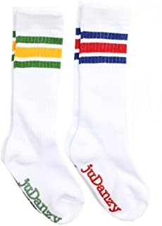 juDanzy Knee High Tube Socks for Boys, Girls, Baby, Toddler and Child (2 Pack)