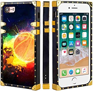 SOKAD Painted Basketball Wallpapers iPhone 8 & iPhone 7 [4.7inch] Square Corner Case Cover
