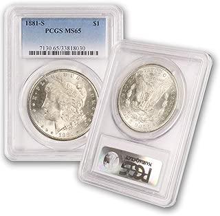 1881 S Morgan Silver Dollar $1 MS65 PCGS