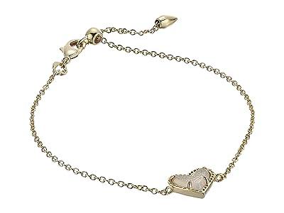 Kendra Scott Ari Heart Delicate Chain Bracelet (Gold Iridescent Drusy) Bracelet