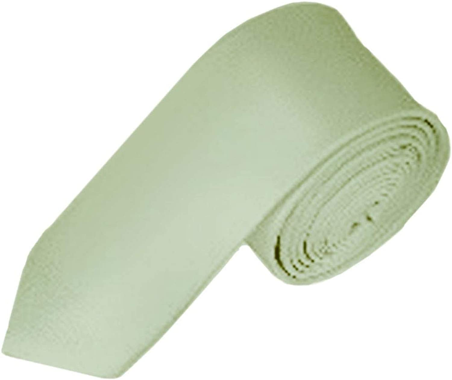 Berlioni Men's Classic Neck Tie With Hanky Silk Finish Polyester Solid Color Long Ties