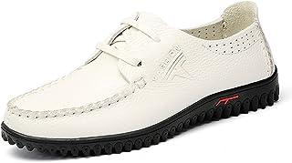 XIGUAFR Homme Chaussure en Cuir d'affaire a Lacet Souple Chaussure de Loisir de Ville Légère Résistant à l'usure