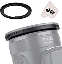 JJC 67mm ABS Lens Filter Adapter Ring for Canon SX70 HS, SX60 HS, SX50 HS, SX40 HS, SX30 IS, SX20 IS, SX10 IS, SX1 IS, SX540 HS, SX530 HS, SX520 HS Digital Camera Replaces Canon FA-DC67A Adapter Ring