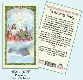 Holy Trinity Laminated Prayer Cards - Pack of 25 - HC9-077E