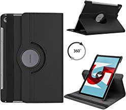 """ONLY for Huawei MediaPad M5 Case 10.8 inch Tablet - Flexible 360 Degree Rotating Stand Cover Case Protection Huawei MediaPad M5 10.8"""", Black"""