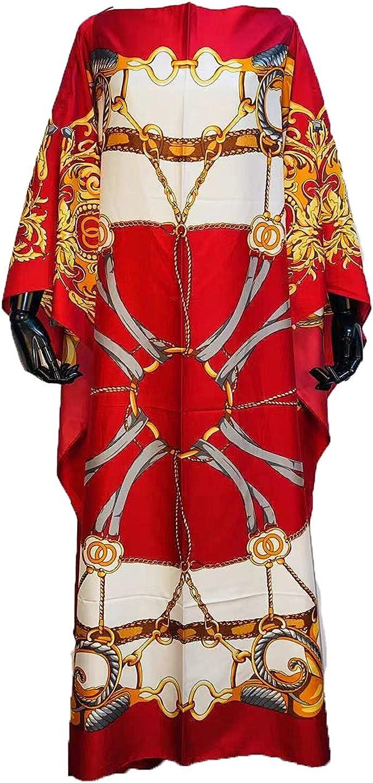 Dashiki Dress 蔵 ◆セール特価品◆ Print Bohemia Silk Hijab Loose Scarf Elegant Musli
