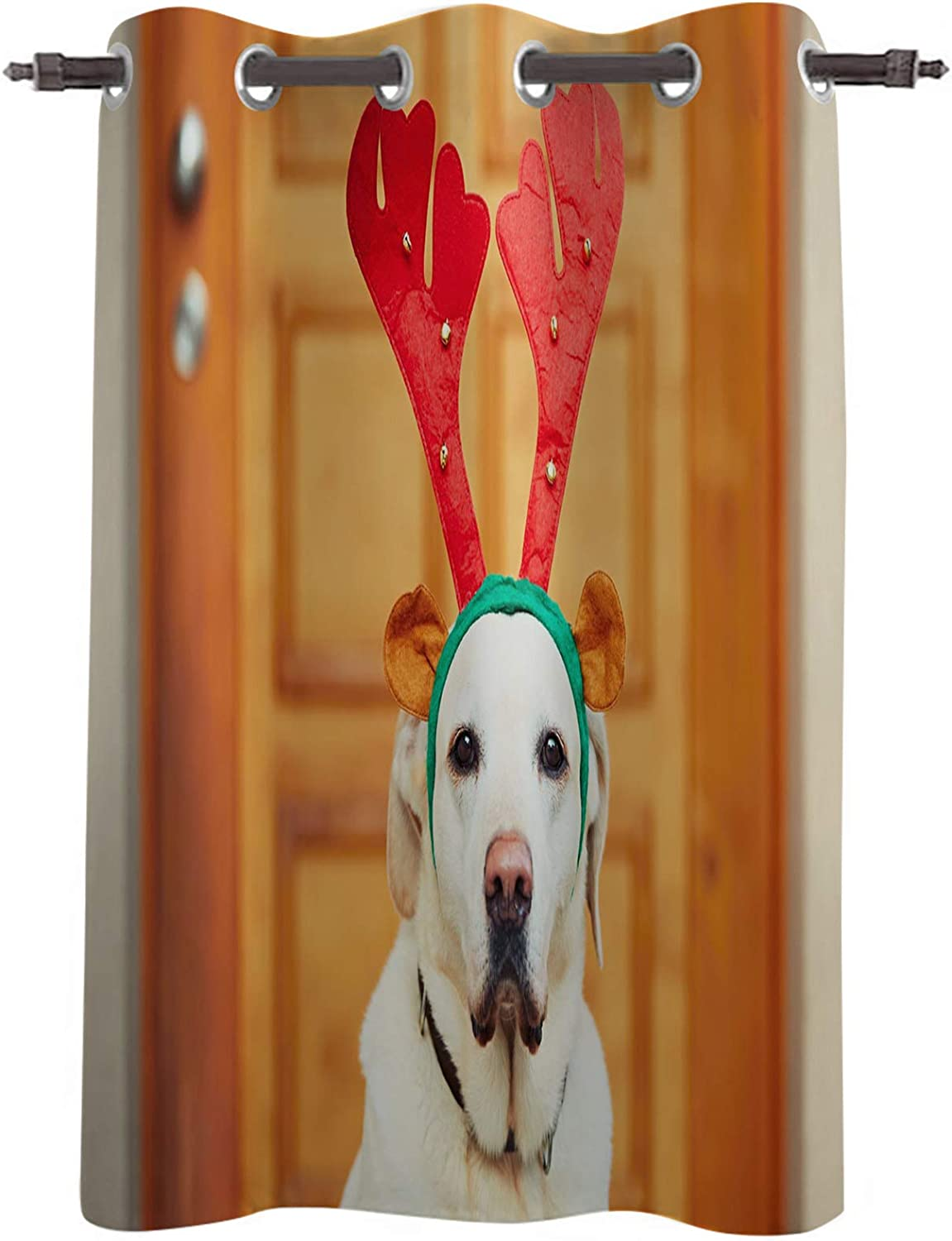 Blackout Online limited product Curtain Panel Christmas Cute Deer with 2021 Decor Dog Angle