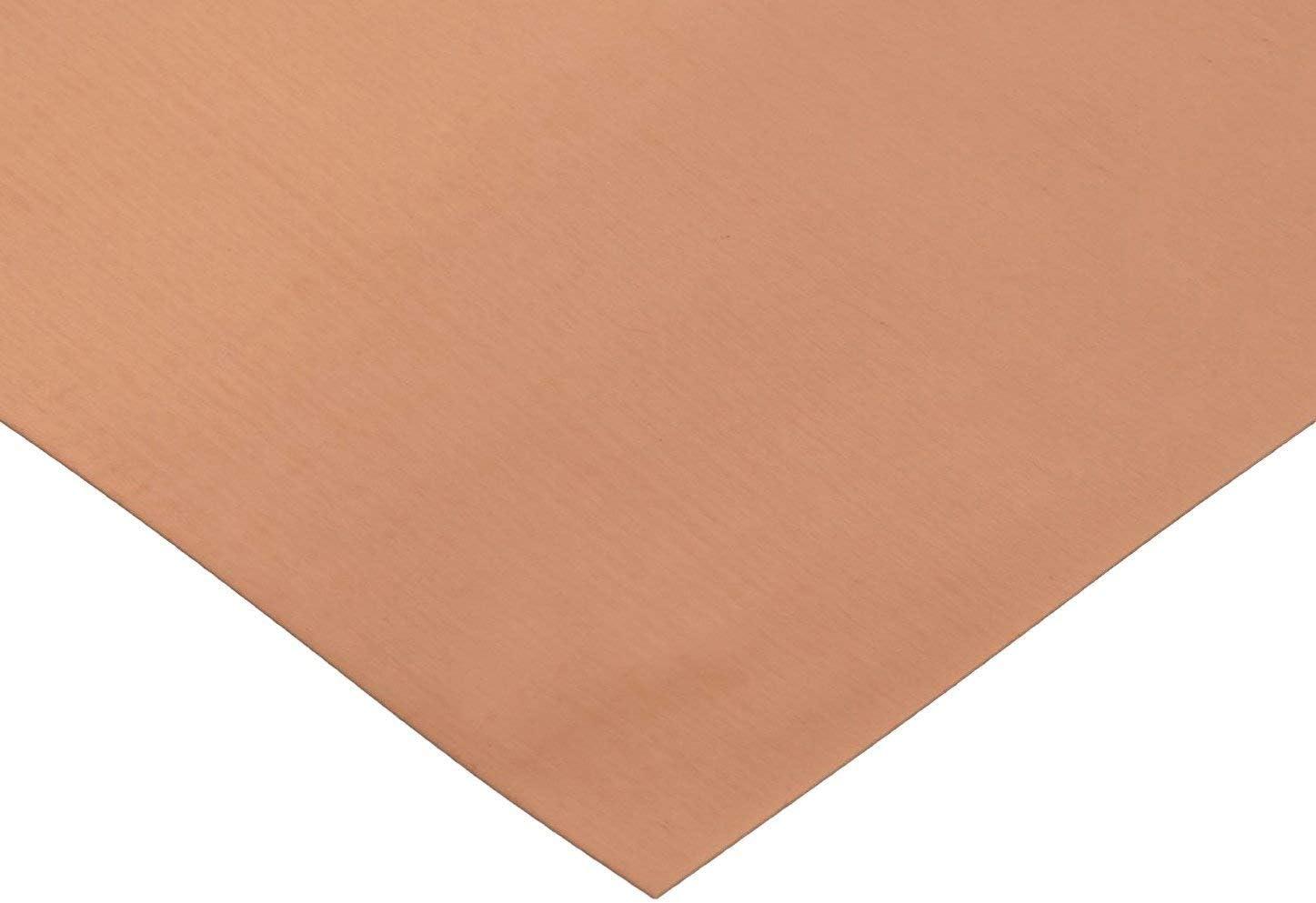 XMRISE Kupferplatte aus reinem Kupfer T2 K/ühlung Metallblech 0,1 x 305 x 500 mm Kupferfolie industrielle Materialien 305 x 500 mm