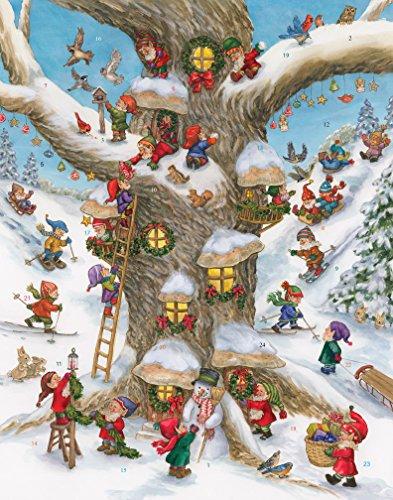 Calendario de Adviento Vermont Christmas Company, diseño de aldea de elfos