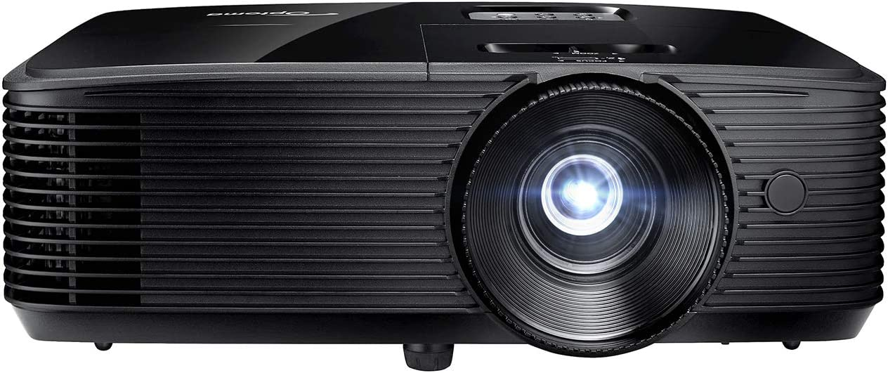 Optoma H190X Affordable Home & Outdoor Movie Projector   HD Ready 720p + 1080p Support   Bright 3900 Lumens for Lights-on Viewing   3D-Compatible   Speaker Built in