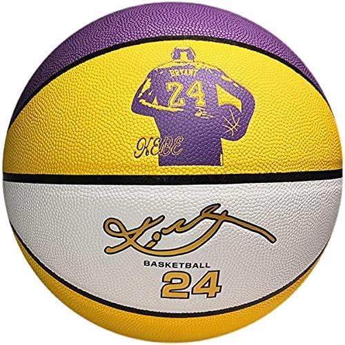 LIZTX Lakers Black Mamba Bryant Basketball No. 24 Signature Hall of Fame Edition Basketball