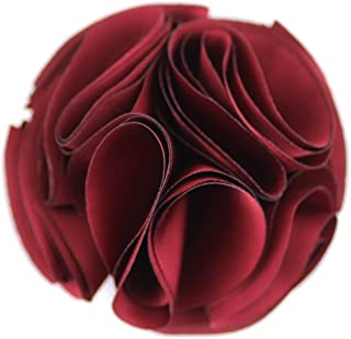 Merdia Vintage Silk Flower Hair Clip and Brooches Pin(Red)