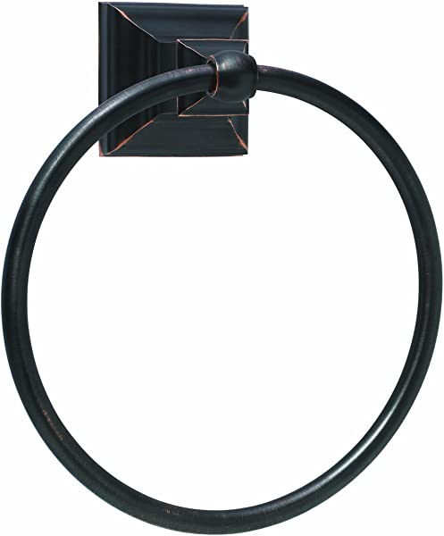 Amerock BH26511 ORB Markham Collection Towel Ring Oil Rubbed Bronze