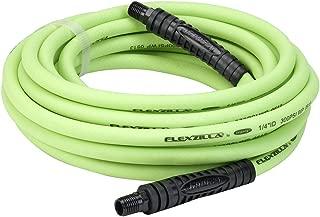 Flexzilla Air Hose, 1/4 in. x 25 ft, 1/4 in. MNPT Fittings, Heavy Duty, Lightweight, Hybrid, ZillaGreen - HFZ1425YW2