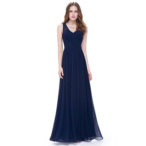00f24d1ec4354 Navy Blue Long Dress: Amazon.com