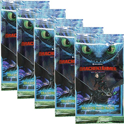 Dragons Trading Cards Serie 3 (2019) - Die geheime Welt - 5 Booster