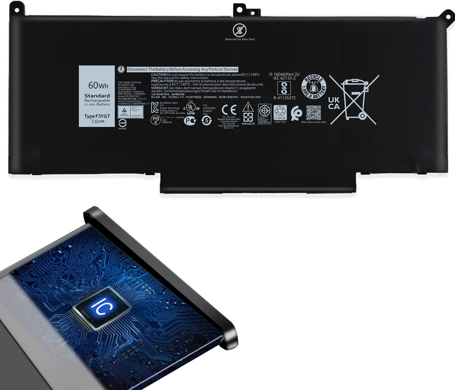 New F3YGT Replacement Laptop Max 85% OFF Max 40% OFF Battery for 7 7000 Dell Latitude 12