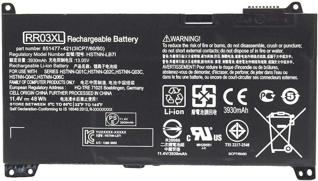 7XINbox 11.4V 48Wh RR03XL Battery 851610-850 Award-winning store Replacement Laptop online shop