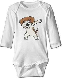 CoolTlong Beagle Dabbing Long Sleeve Trottie Jumpsuit Cute Romper Summer Bodysuits