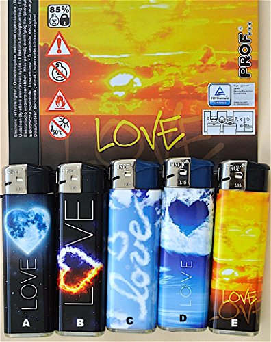 Unbekannt PROF 131503 Feuerzeug Elektronikfeueuerzeug LOVE (c)