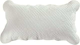 Calla Angel CASPCTKIV_SGDN Sage Garden Luxury Pure Cotton Quilted Pillow Sham, 30