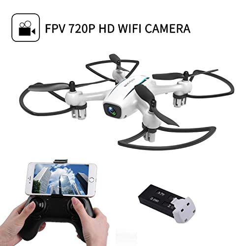 WINGLESCOUT Drone with Camera,Boy Toys Remote Control Airplane with 720P HD FPV Camera Live Video,RC Quadcopter with Altitude Hold,Headless Mode,3D Flips and One Key Return,Kids