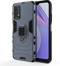 CASSIEY Tough Armor Bumper Poly Carbonate Back Case Cover for Redmi 9 Power Ring Holder Kickstand in Built Excellent 360 Degree Protection Blue