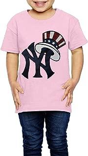 YUKIkid-tee New York Yankee Wear Us Cap Youth Tee Shirts White for 2-6 Years Old