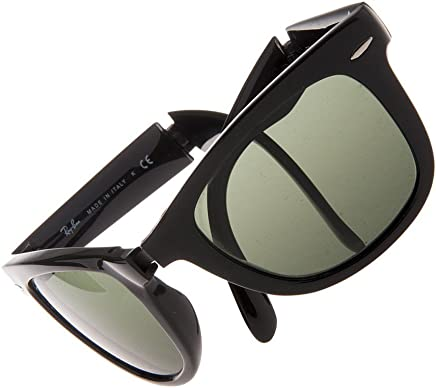 d3e327fa6 Ray-Ban, RB4105, Folding Wayfarer, Matte Black Frame, Grey Mirror Lilac