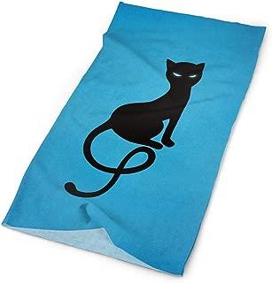 TPSXXY Blue Noble Evil Black Cat Face Mask Neck Gaiter Sun Shade Shield Bandanas for Dust Outdoors Sports Festivals