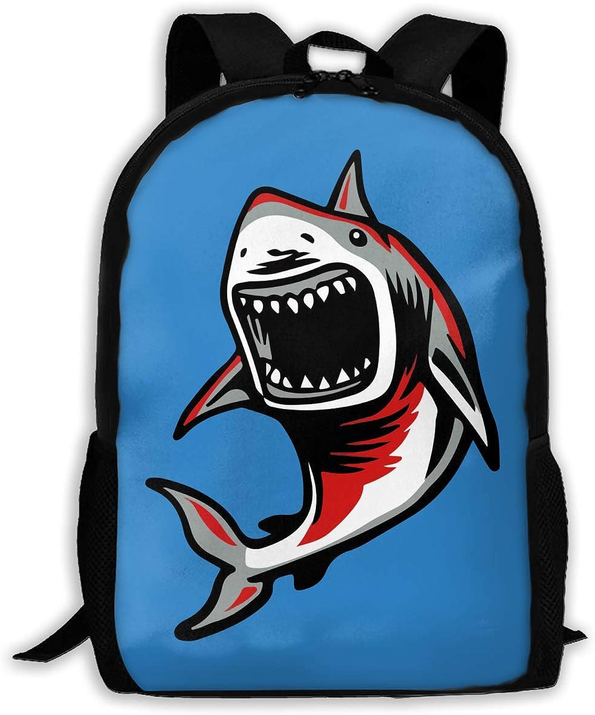 700b7ec8ca88 Adult Shoulder Bag Fierce Shark Multipurpose 3D Printing Casual ...