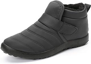 gracosy Botas Nieve Mujer Zapatos de Invierno Fur Forro Calentitas Botines Antideslizante Peso Ligero Plano Corto Botas Ve...