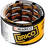 Miarco 10992 Cinta Aluminio Brico, 50 mm x 10 m, Plata