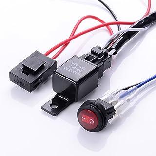 KESOTO Kabelbaum Kabelsatz für Arbeitsscheinwerfer Tagfahrleuchten mit Relais und Schalter 12V /40A