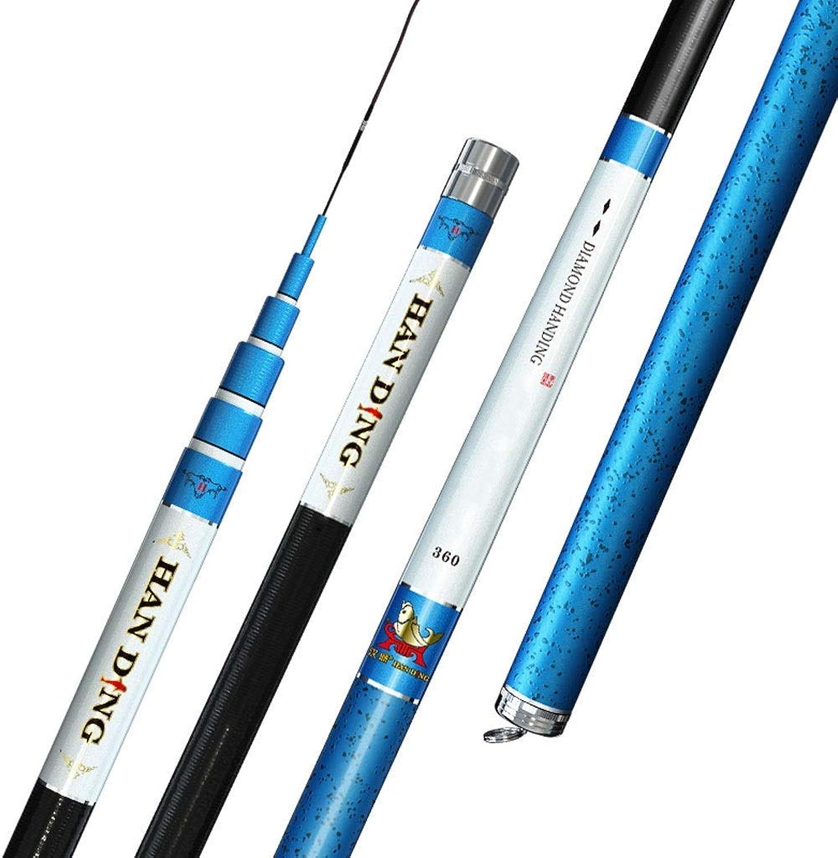 Superharte Kohlefaserstange, 3,6 m - 9 m einziehbares tragbares Werkzeug, blau (28 Tune) (Gre  7,2 m)