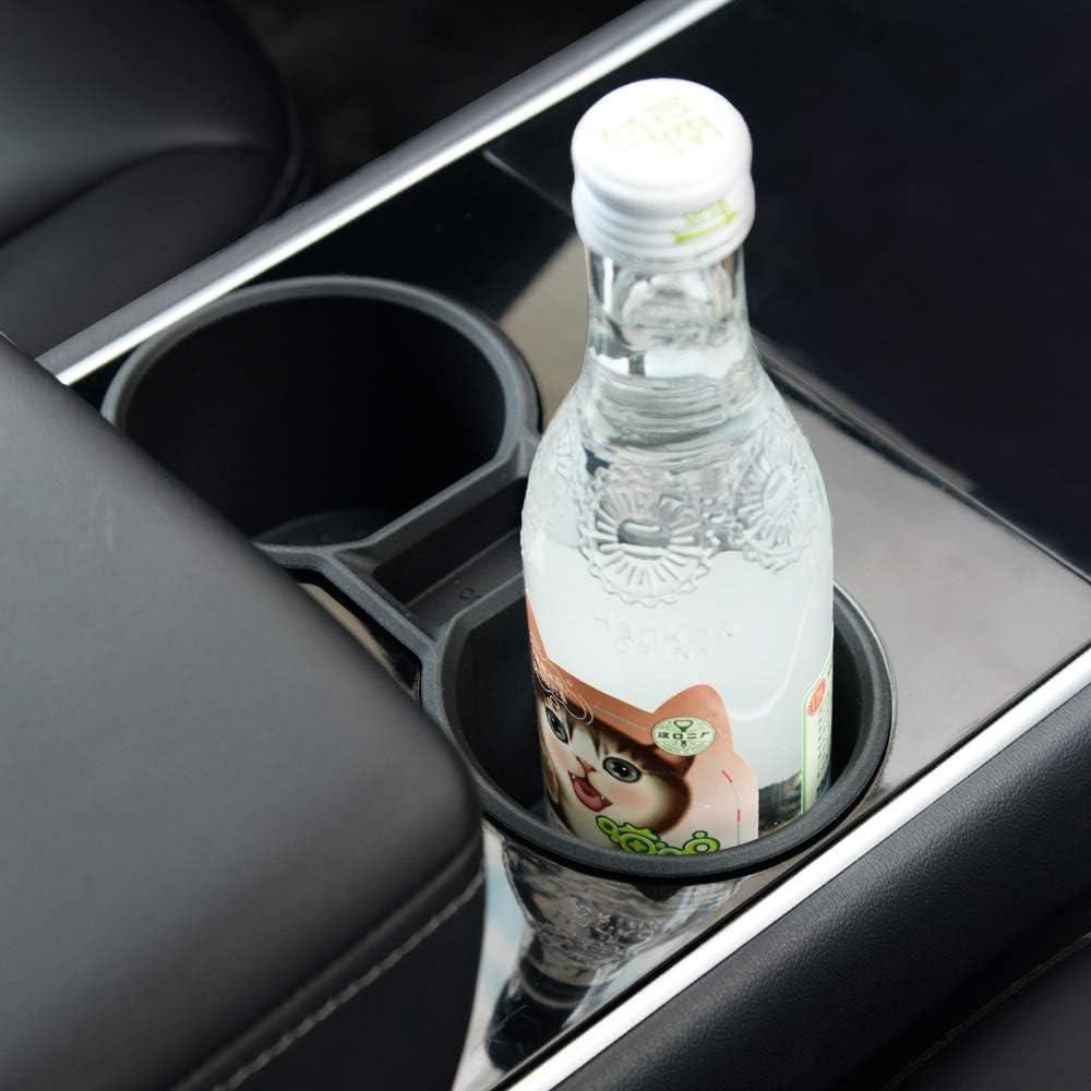 Buy Topfit For Tesla Model 3 Model Y Water Cup Holder Insert Center Console Slot Slip Limit Clip Rubber Kit No More Spilled Drinks Black Online In Indonesia B08cvg81qw
