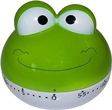 BINGONE Assorted Colors Cute Kitchen Timer Mini 55 Mins Animal Timer Countdown Frog (Green)