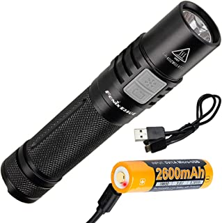 Fenix E35 Ultimate Edition (E35UE) Compact 1000 Lumen LED Flashlight with USB Rechargeable Battery and LumenTac Cable