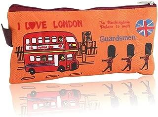 YWSCXMY-AU London Style Pencil Pencil Case Cosmetic Bag Storage Bag Wallet Zipper Coin Box (Color : Orange)