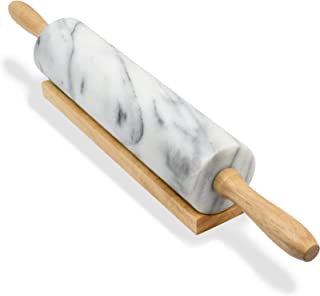 Greenco Hand Crafted Rolling Pin Marble, 1-Pack