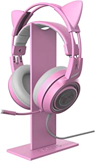 SOMiC Pink Headphones Stand Detachable Anti-Skid Gaming Headset Holder Earphone Stand for All Size