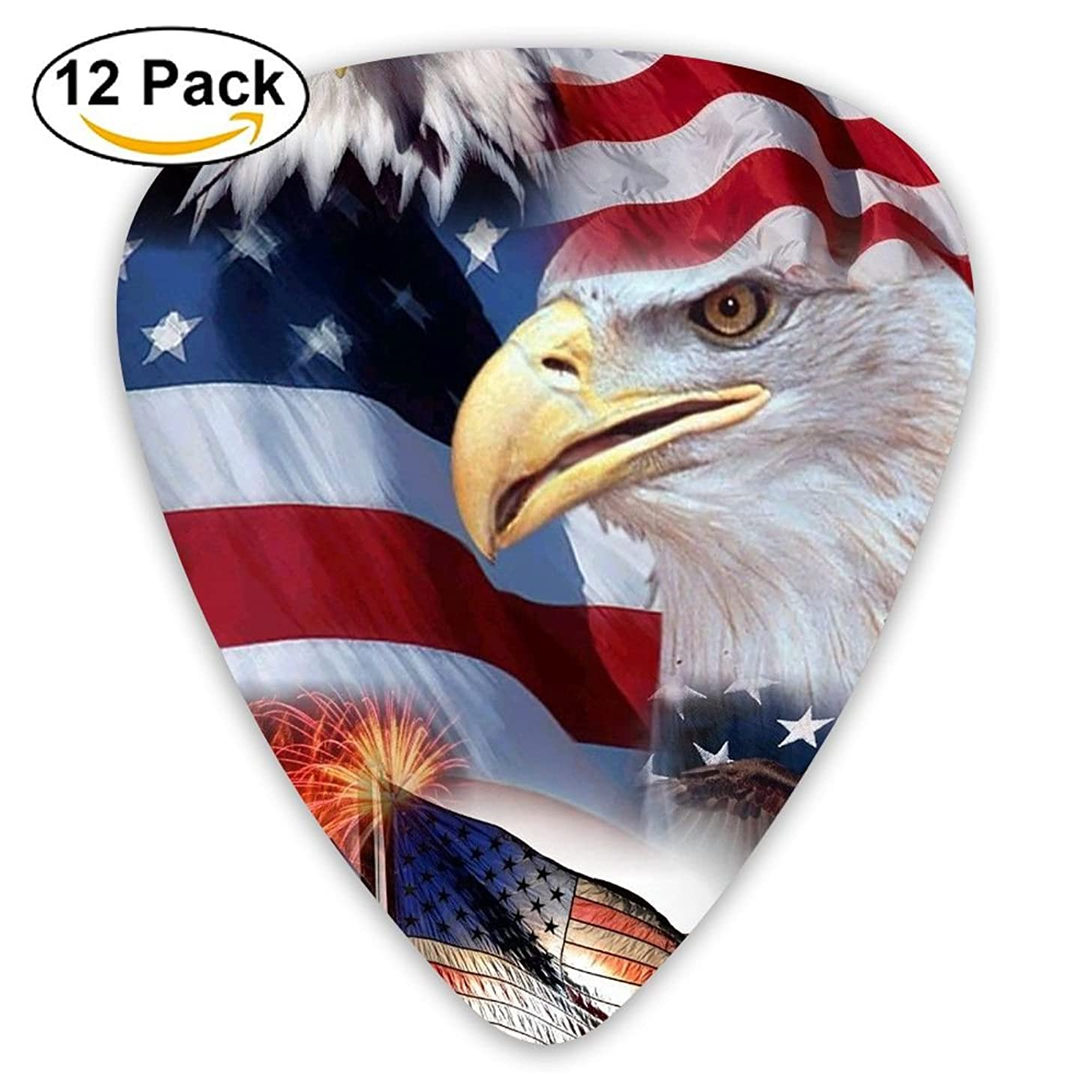 12-pack Fashion Classic Electric Guitar Picks Plectrums American Flag Design Instrument Standard Bass Guitarist